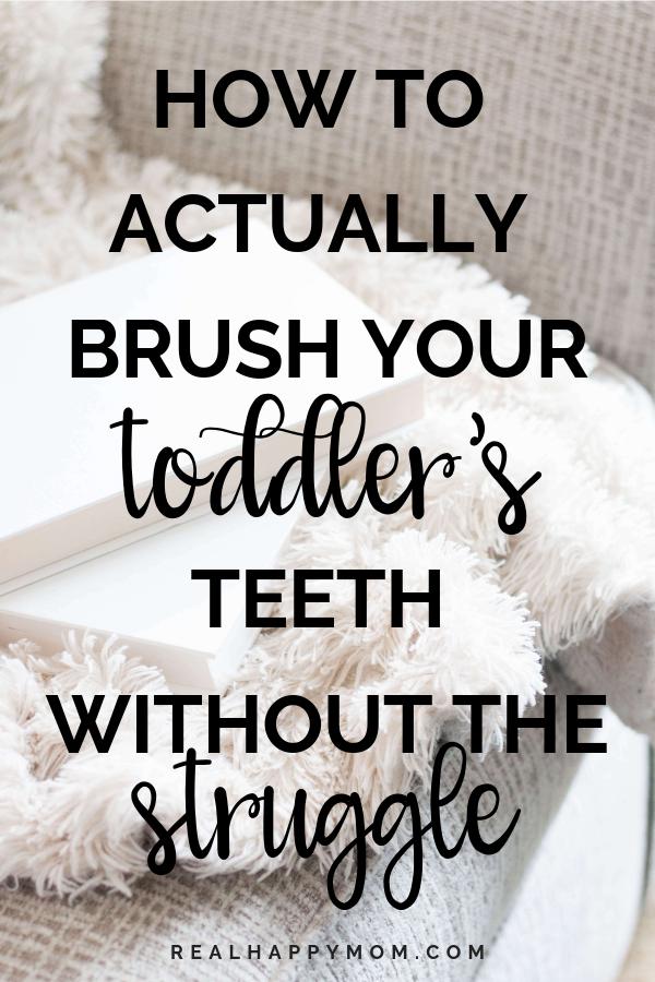 toddler tantrum brushing teeth - brush toddler's teeth