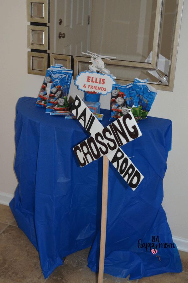Thomas the train theme birthday party gift bags