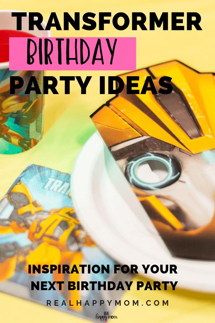 Transformer Birthday Party Ideas