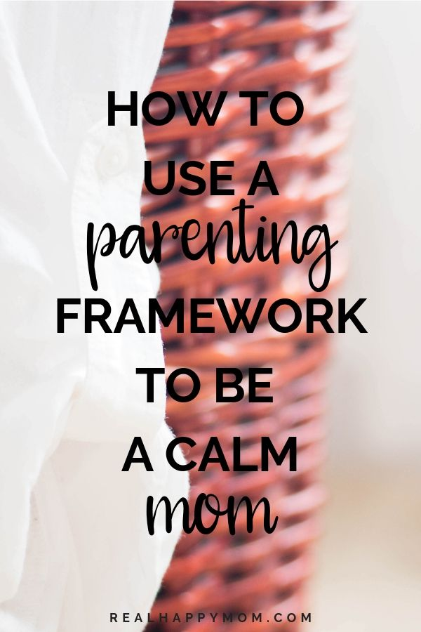 Lynn Turcotte-Schuh talking about Present Parenting Framework on the Real Happy Mom Podcast