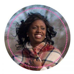 Darlene Headshot with Pink circle