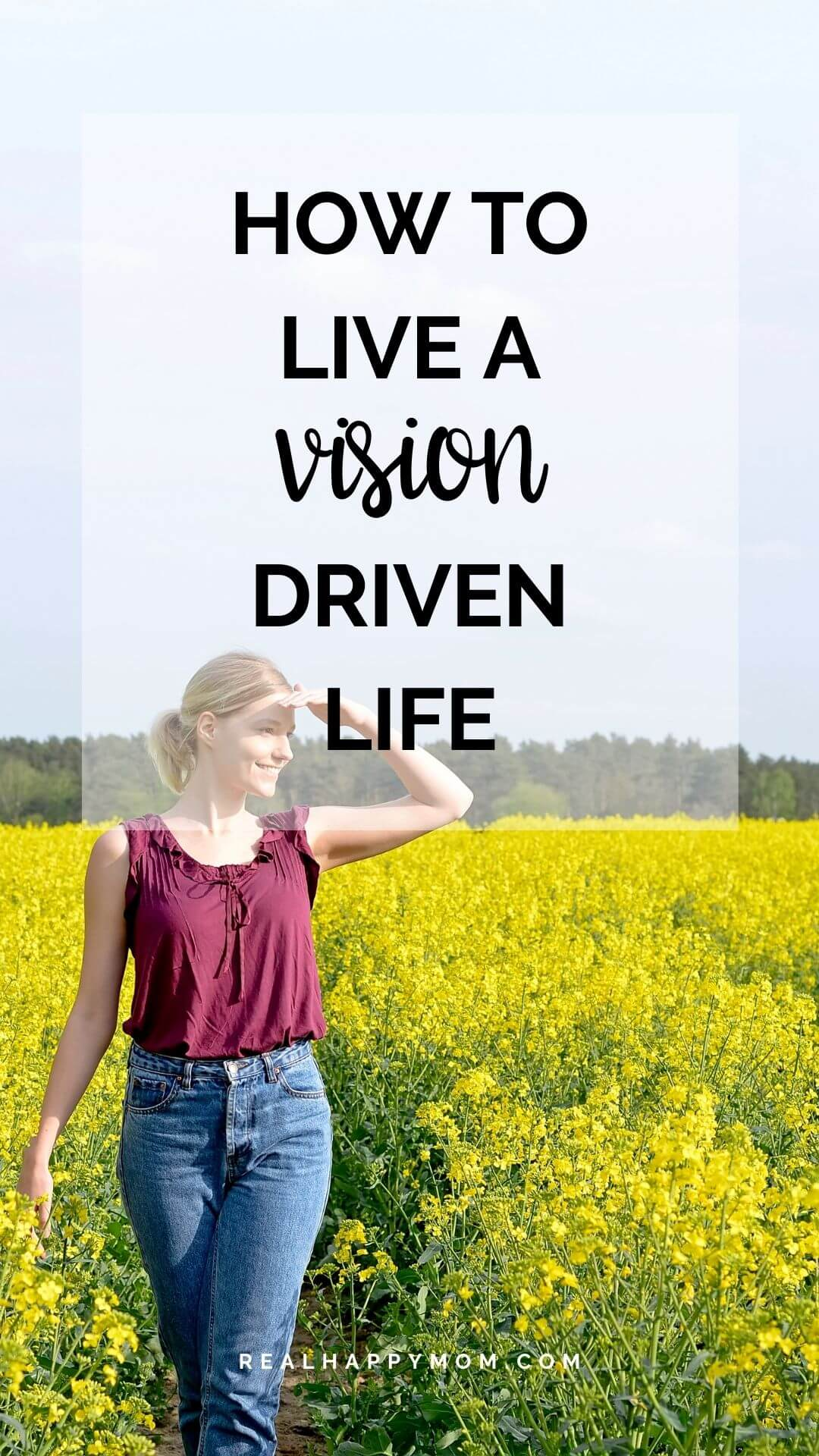 How to Live a Vision Driven Life